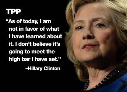 Hilary on TPP